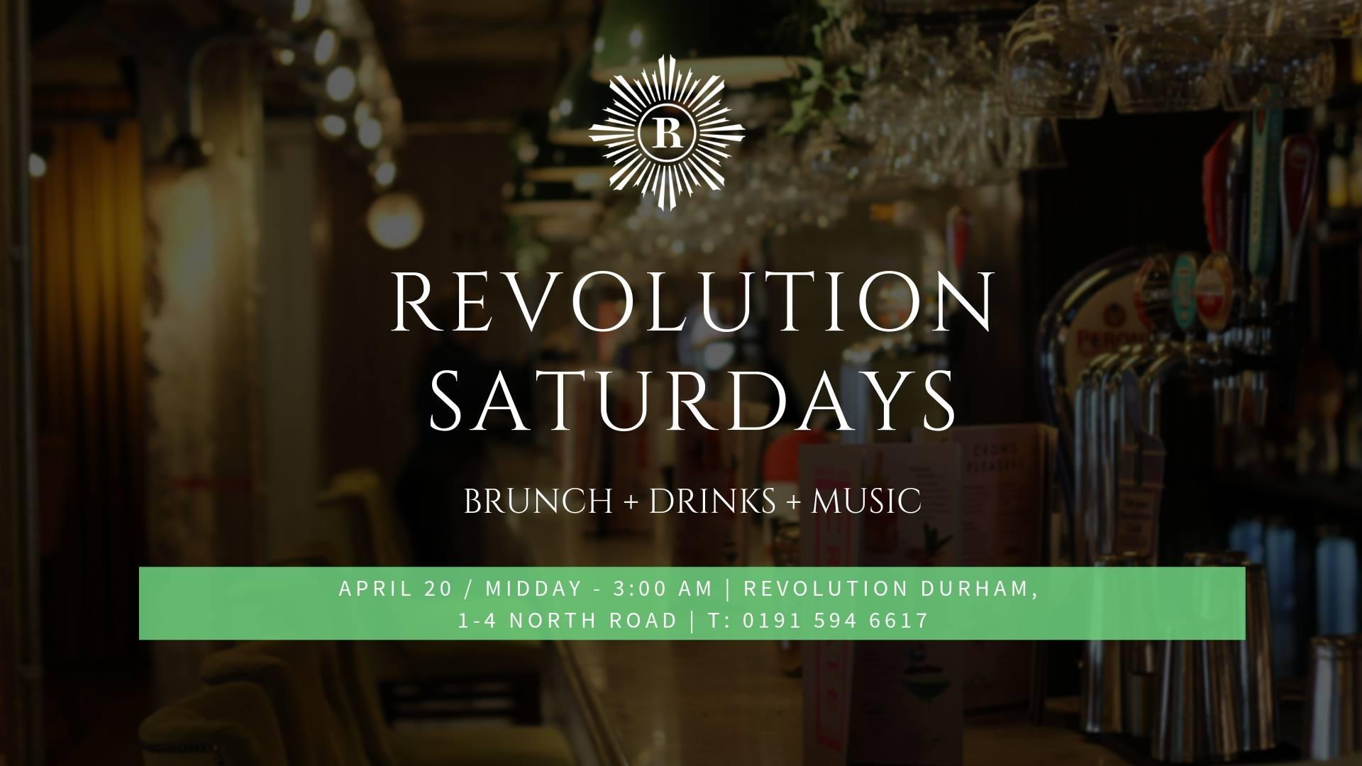 Revolution Saturdays on Sat 7th Sep 2019 at Revolution