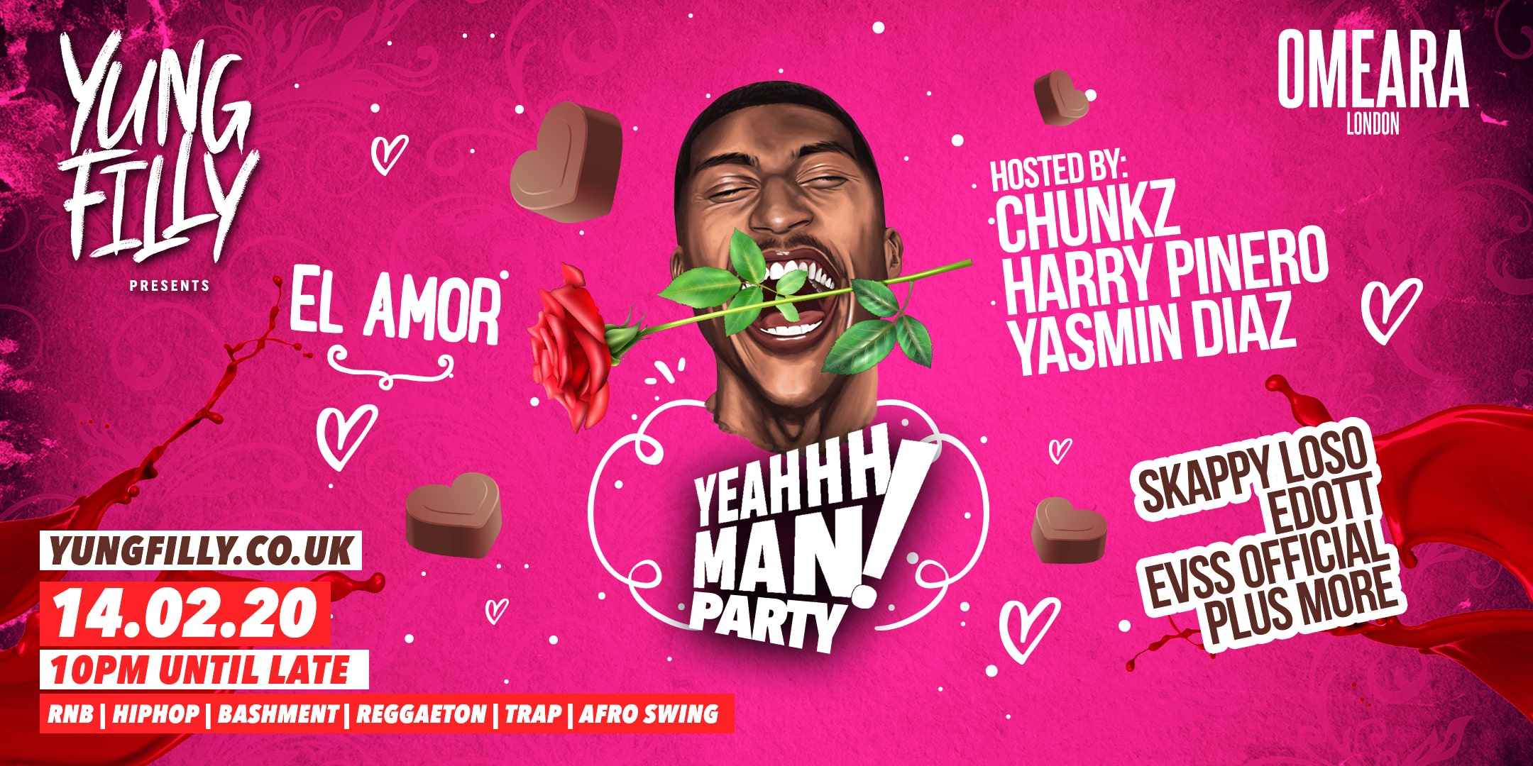 Yung Filly Presents: YeahhhMan – El Amor Valentines Special