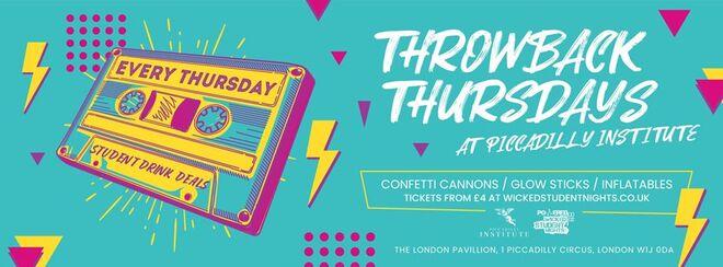 Throwback Thursdays at PI // Student Drink Deals // Open till 3AM