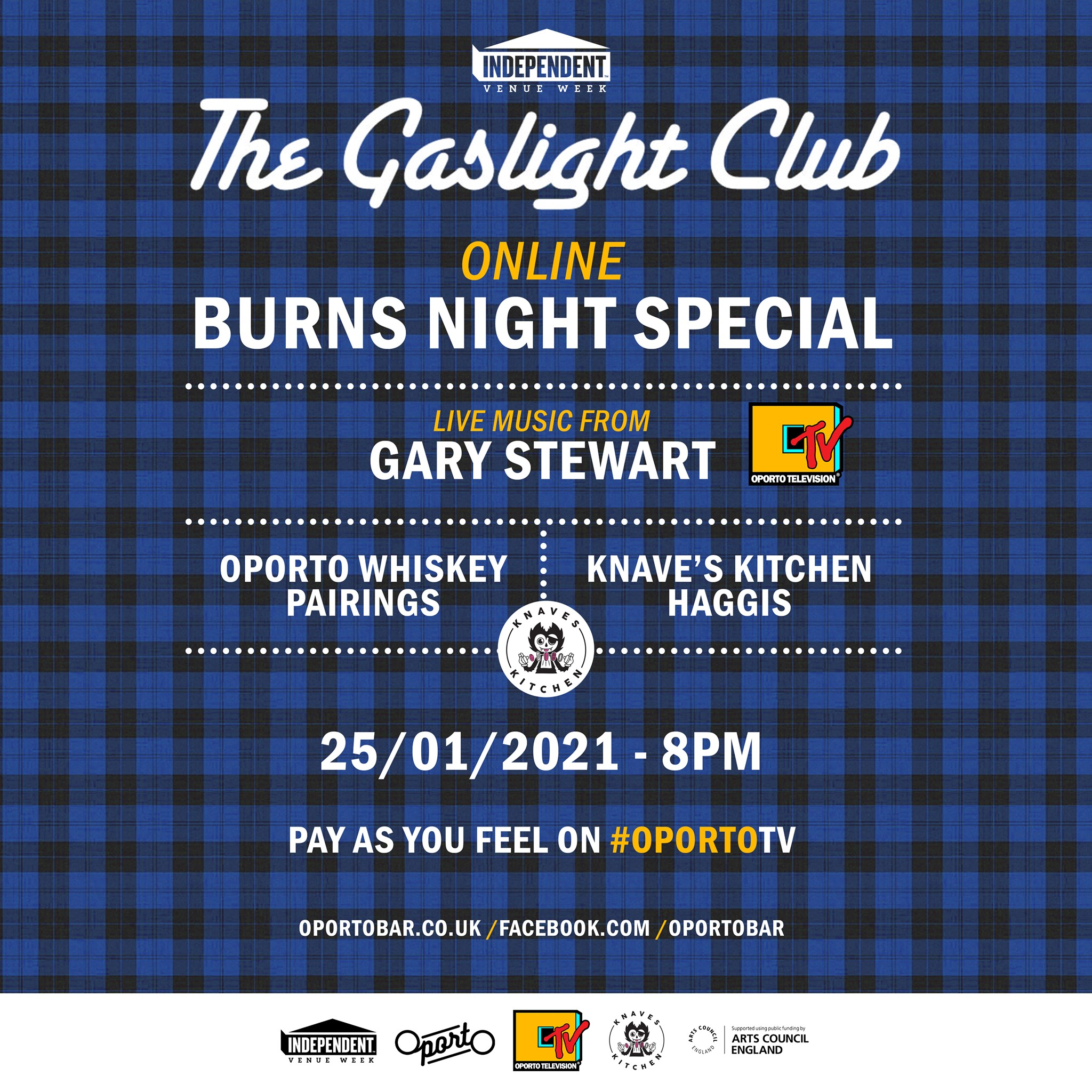 Gaslight Club Burns Night Special on #OportoTV for Independent Venue Week
