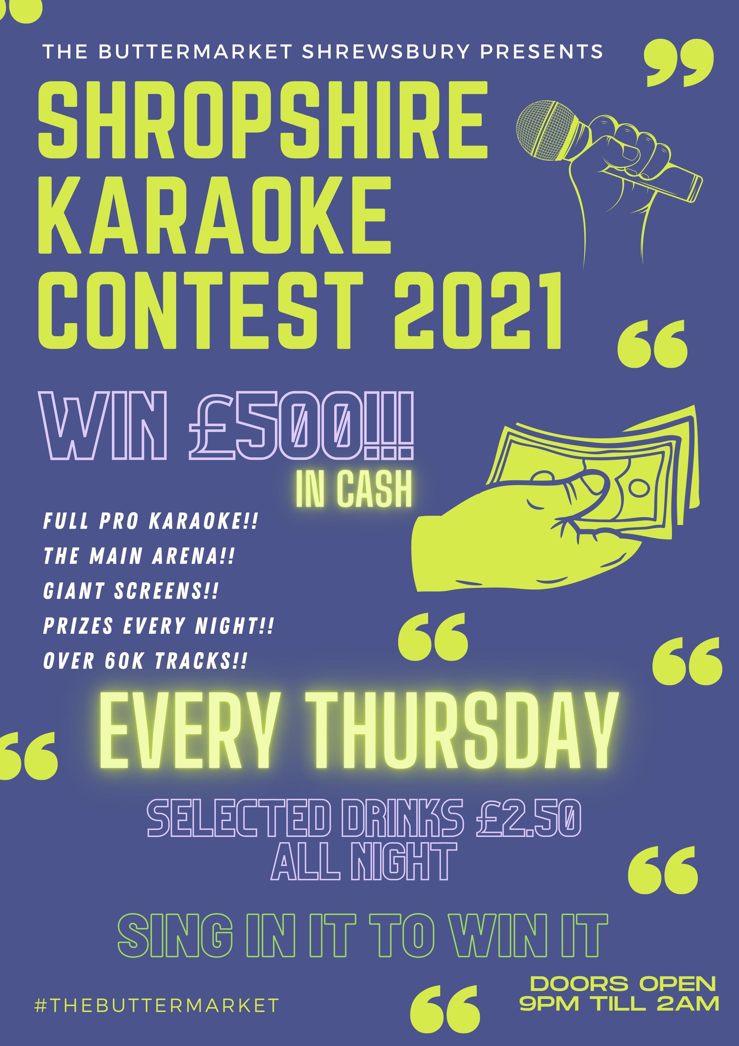 Shropshire Karaoke Contest 2021 – FREE TICKETS!