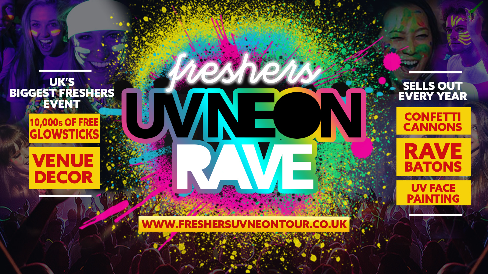 Plymouth Freshers UV Neon Rave | Plymouth Freshers 2021