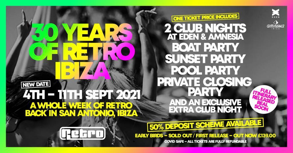 30 years of Retro Ibiza weekender