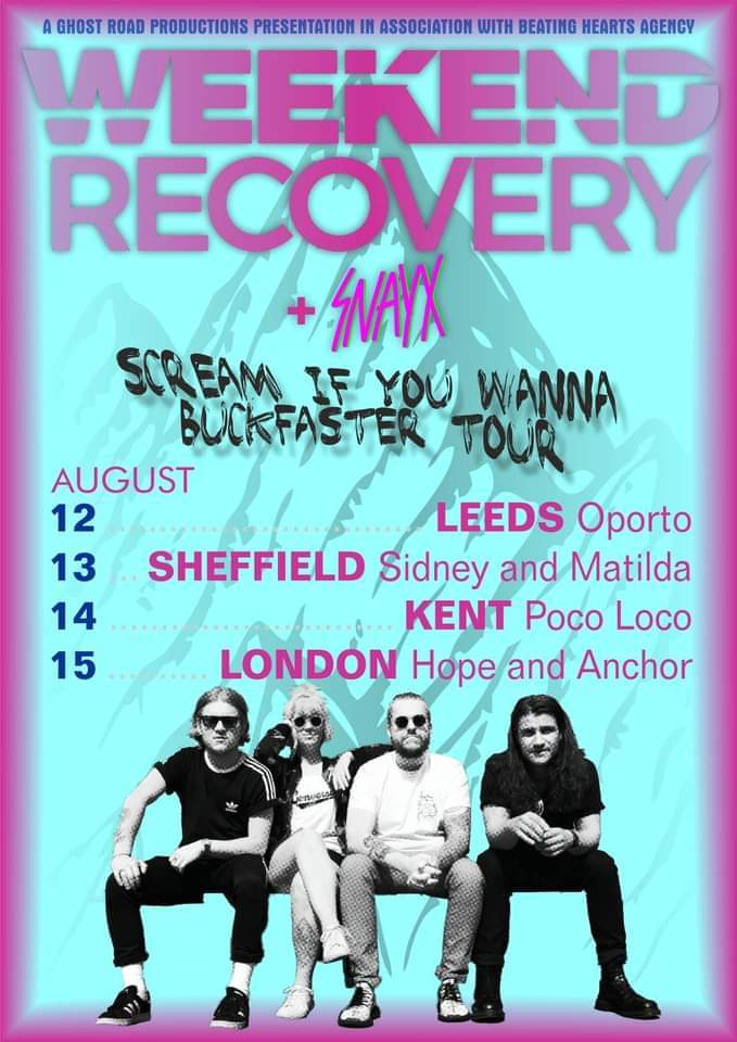 Weekend Recovery  + Snayx & Goldblum