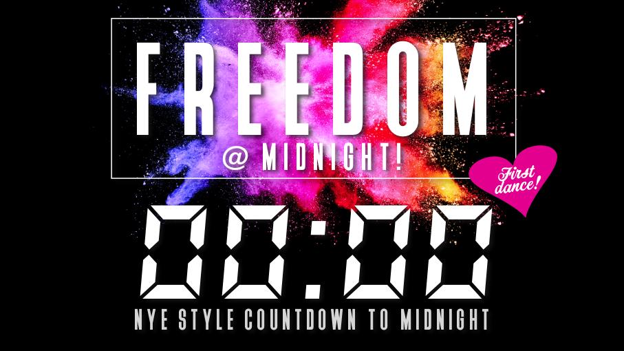 FREEDOM @ MIDNIGHT – Unlock the dance floor!