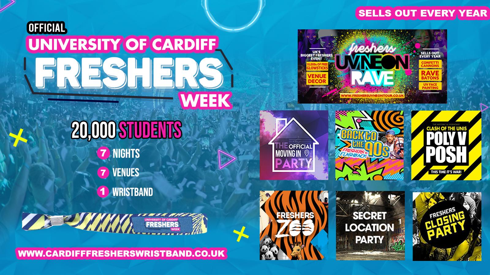 OFFICIAL Cardiff University Freshers Week Wristband 2021 – Cardiff Freshers 2021